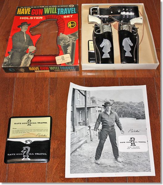 Leslie henry toy cap guns page 2 a rather fabulous and rare set from milco of canada complete with paladins business cards and a photo of richard boone as paladin colourmoves
