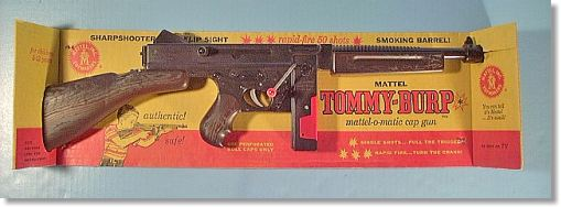 Mattel Shootin' Shell Toy Cap Guns, Fanners and toy Thompson