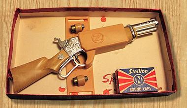 Spit-Fire Cap Gun by Nichols Industries, Inc -Capgun Rifle